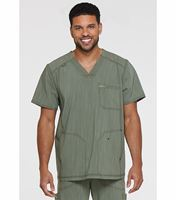 Dickies Advance Two Tone Twist Men's 3 Pocket V-Neck Scrub Top-DK695