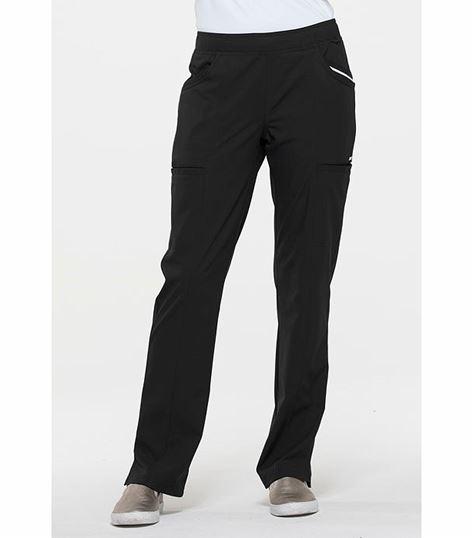 Elle Elastic Waist Cargo Scrub Pants-EL150