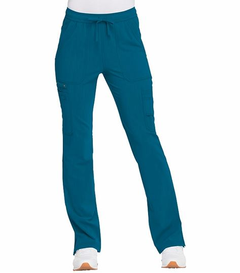 Dickies Advance Solid Tonal Twist Women's Flare Drawstring Scrub Pants-DK200