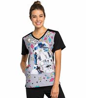 Tooniforms Disney Women's V-neck Scrub Top-TF622
