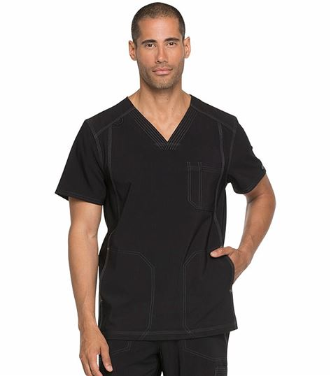 Dickies Advance Solid Tonal Twist Men's V-Neck Scrub Top-DK750