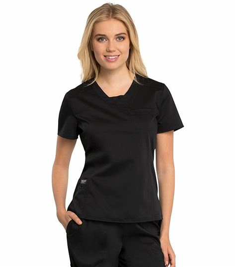 Cherokee Workwear Revolution Women's 2 Pocket V-Neck Scrub Top-WW735