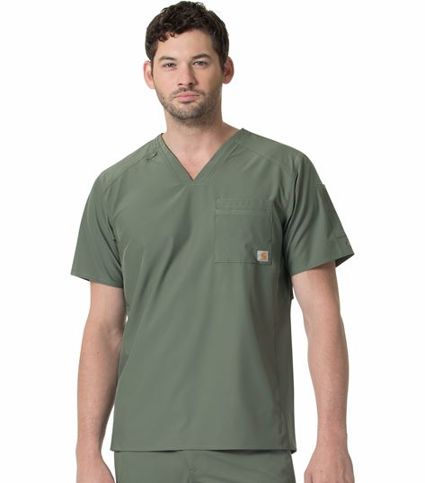 Carhartt Liberty Men's Slim Fit V-Neck Scrub Top-C15106