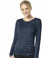 Wonderwink Layers Women's  Long Sleeve Printed Underscrub Tee-2409