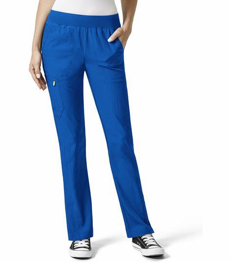 WonderWink Four-Stretch Women's Elastic Waist Scrub Pants-5114