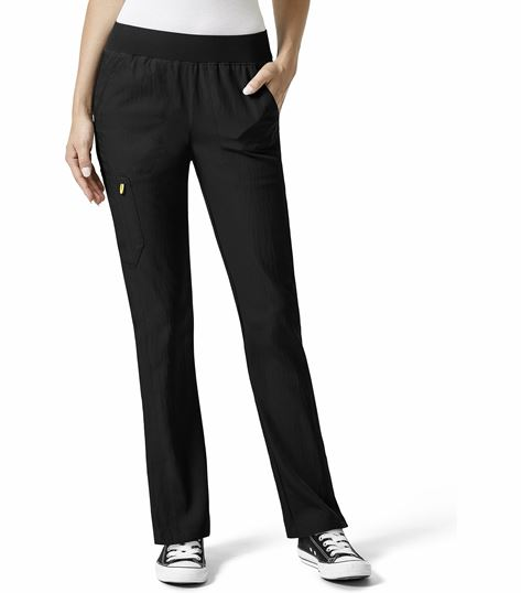 WonderWink Four-Stretch Women's Elastic Waist Scrub Pants-5114