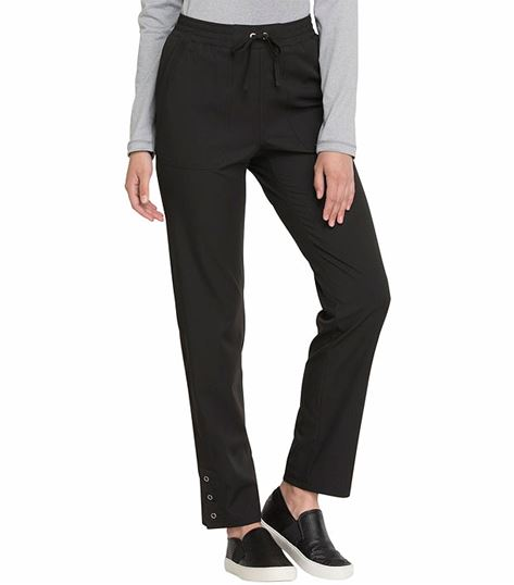 Elle Simply Polished Tapered Leg Drawstring Scrub Pants-EL180