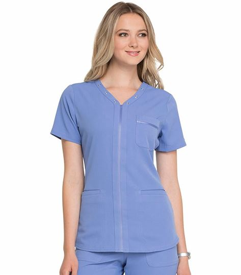 Elle Simply Polished V-Neck Scrub Top-EL690