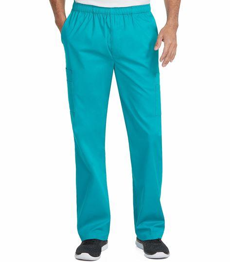 Med Couture Mc2 Men's Elastic Waist Cargo Scrub Pants-8702