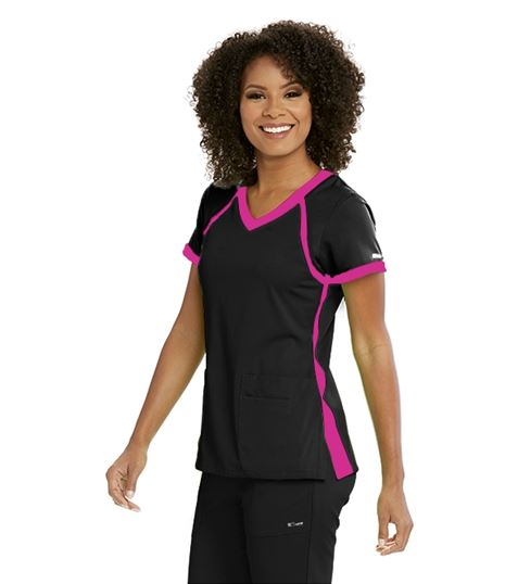 Grey's Anatomy Active Women's Color Block V-Neck Scrub Top-41435