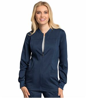 Cherokee Workwear Revolution Tech Women's Zip Up Scrub Jacket-WW305AB