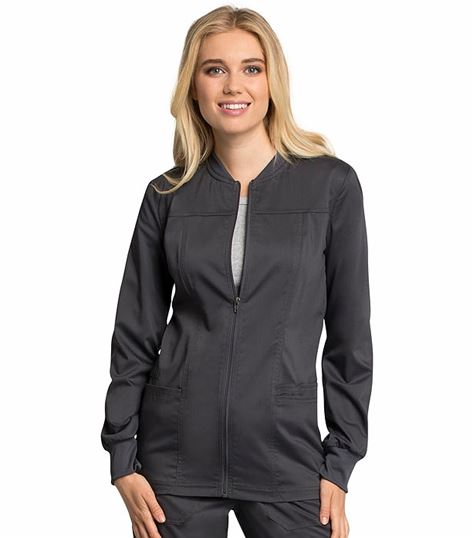 Cherokee Workwear Revolution Tech Women's Zip Up Scrub Jacket-WW305AB