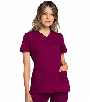 Cherokee Workwear Revolution Tech Women's V-Neck Scrub Top-WW770AB
