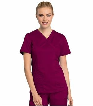 Cherokee Workwear Revolution Tech Women's Mock Wrap Scrub Top-WW775AB