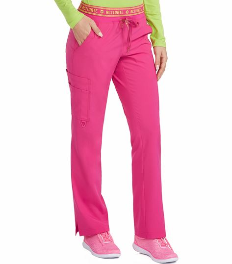 Med Couture Activate Flow Women's Logo Waist Cargo Scrub Pants-8758