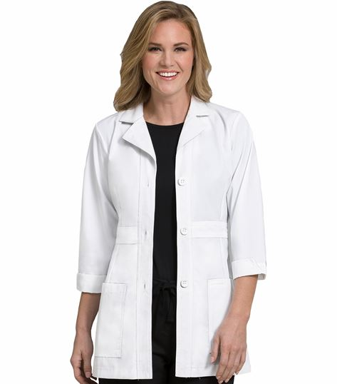 Med Couture Women's 31 In. Mid Length Lab Coat-9604