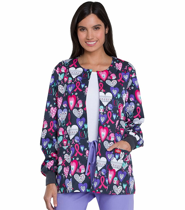 624ef5a89b8 Dickies EDS Women's Snap Front Print Scrub Jacket-DK301 | Medical Scrubs  Collection