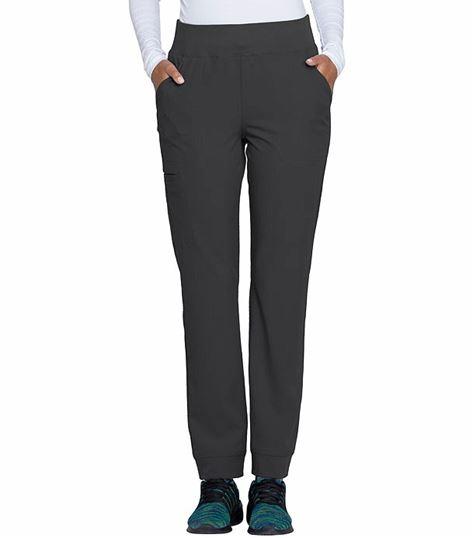 HeartSoul Women's Elastic Knit Waist Scrub Pants-HS070