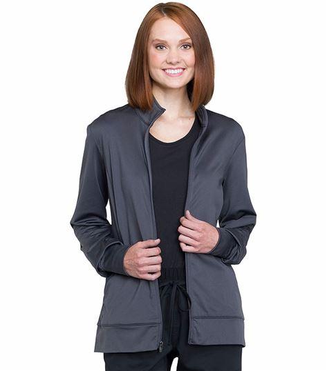 Cherokee Workwear Revolution Unisex Zip Front Warm-Up Scrub Jacket-WW370