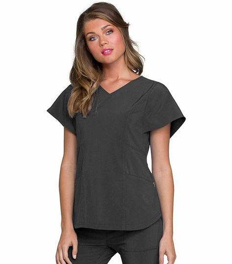 HeartSoul Women's Flattering V-Neck Scrub Top-HS735