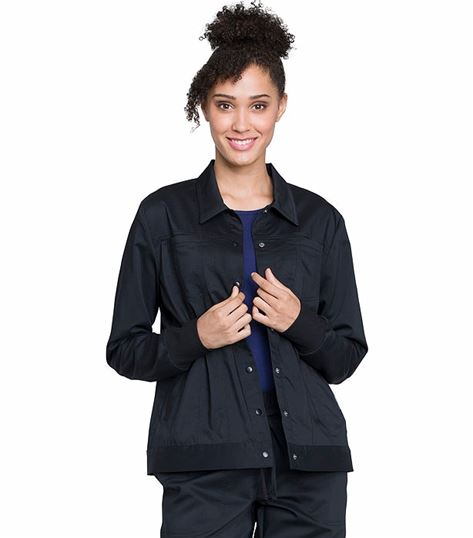 Cherokee Workwear Revolution Women's Trucker Scrub Jacket-WW325