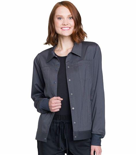 Cherokee Workwear Revolution Women's Trucker Scrub Jacket-WW325