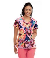 Barco Grey's Anatomy Women's Printed V-Neck Scrub Top-2138