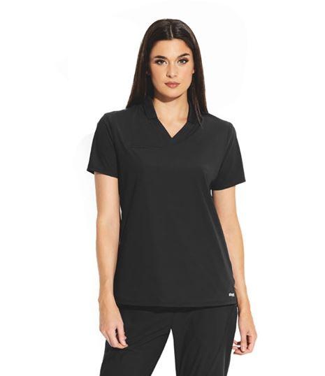 Grey's Anatomy Edge Women's Lyra 3 Pocket Collared Polo Scrub Top- GET006