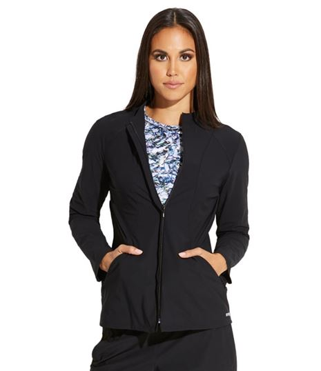 Grey's Anatomy Edge Women 2 Pocket Angled Seam Scrub Jacket-GEJ004