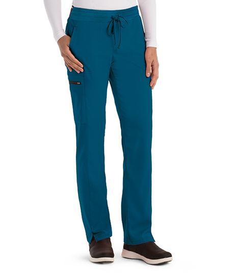 Grey's Anatomy Spandex Stretch Women's Drawstring Cargo Scrub Pants-GRSP500