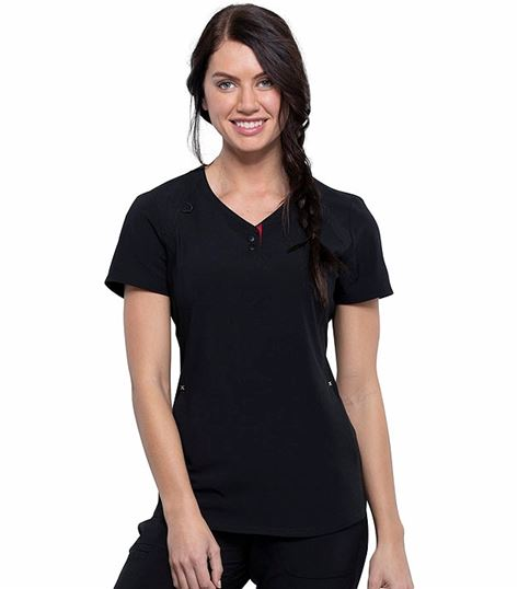 Katie Duke by Cherokee Iflex Women's  V-Neck Scrub Top-CKK815