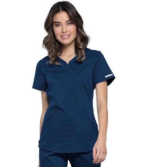 Cherokee Workwear Revolution Women's  Sweetheart Neck Scrub Top-WW601