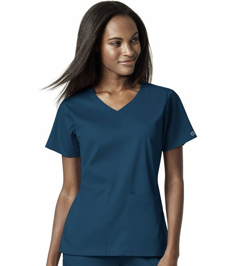 WonderWink Pro Women's 4 Pocket Wrap Top 6519