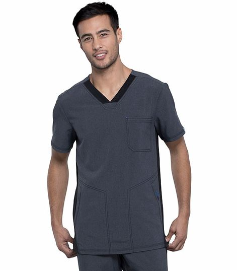 Cherokee Infinity Men's Color Block V-Neck Scrub Top-CK639A