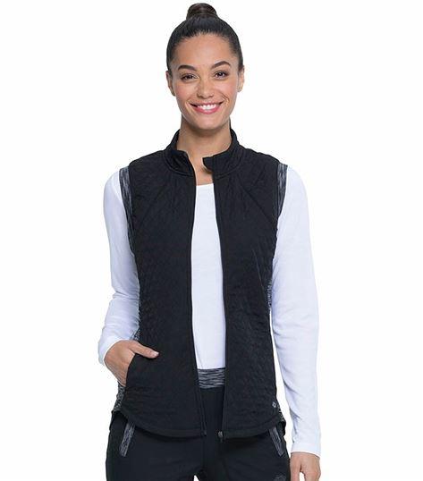 Dickies Dynamix Women's Quilted Zip Up Scrub Vest-DK510