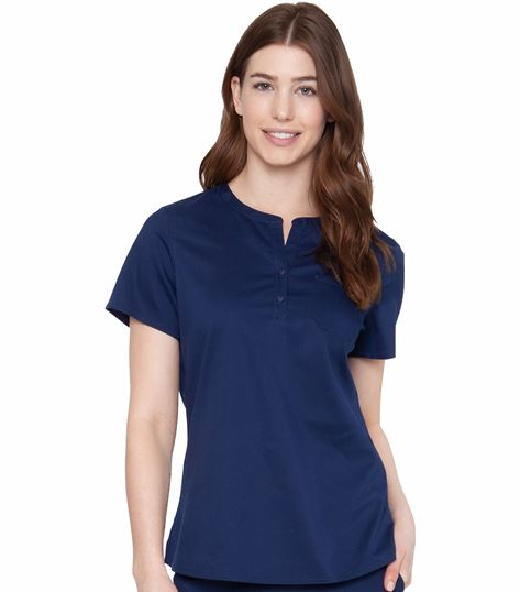 Med Couture Touch Women's Henley Top-7479