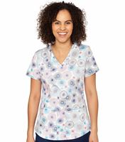 Med Couture Prints Women's Print Sporty Graphic V-Neck Print-8469