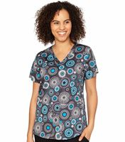 Med Couture Prints Women's Print Shirttail Kerri Print Top-8570