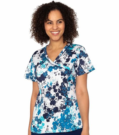 Med Couture Prints Women's Print Mock Wrap Venus Print Top-8586