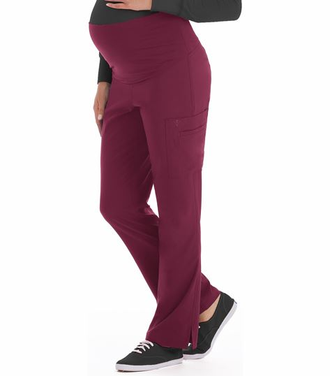 Med Couture Activate Women's Knit Waist Maternity Scrub Pants-8727