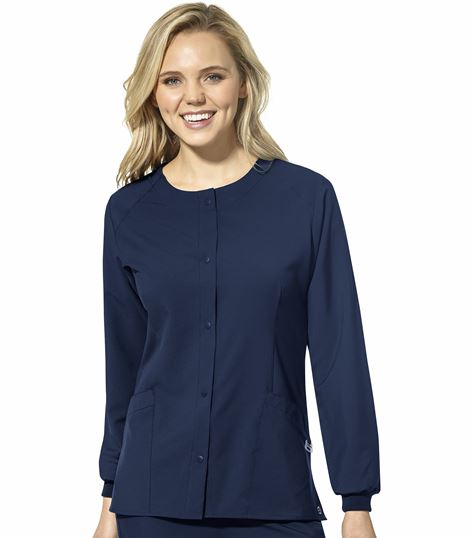 WonderWink 123 Women's Round Neck Warm Up  Scrub Jacket-8155