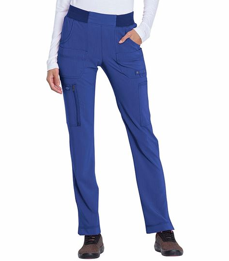 Dickies Advance Solid Tonal Twist Women's Tapered Pull-On Scrub Pants-DK195