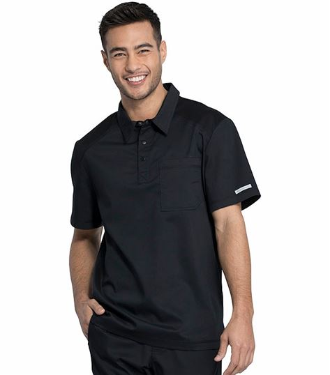 Cherokee Workwear Revolution Men's Polo Scrub Shirt-WW615