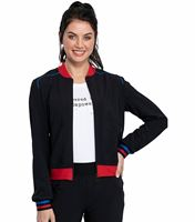 Katie Duke by Cherokee Iflex Women's Bomber Scrub Jacket-CKK385