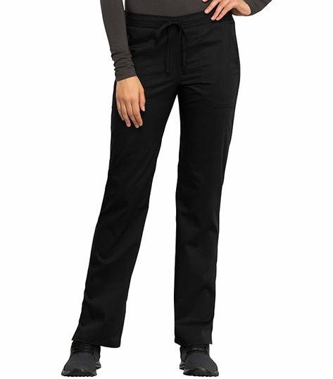 Cherokee Workwear Mid Rise Straight Leg Drawstring Pant WW005