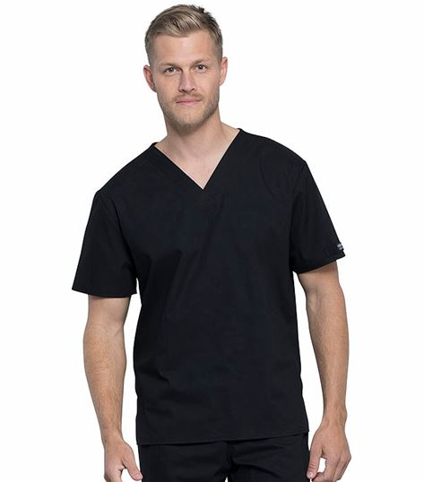 Cherokee Workwear Unisex Pocketless V-neck Top WW605