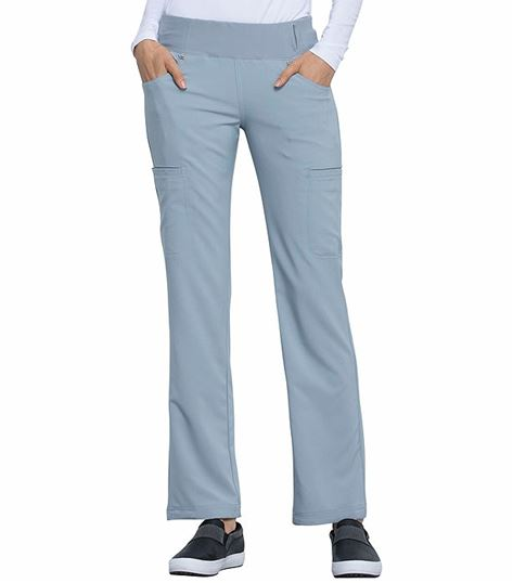 Cherokee Iflex Women's  Mid Rise Pull On Cargo Scrub Pants-CK002