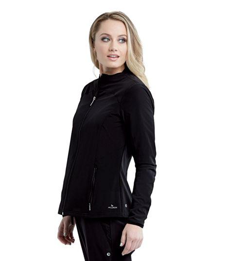 Barco One Wellness Women's 2 Pocket Zip Up Nurse Scrub Jacket BWW903