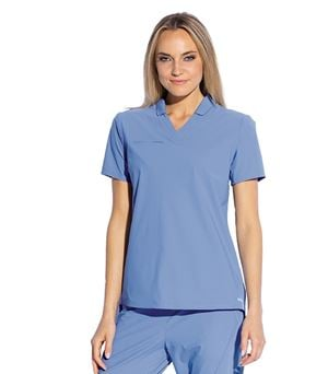Grey's Anatomy Edge Women's Lyra 3 Pocket Collared Polo Scrub Top- GET006