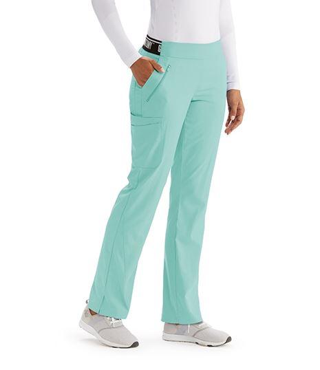 Grey's Anatomy Active Spandex Stretch Women's Logo Waist Scrub Pants-GVSP515